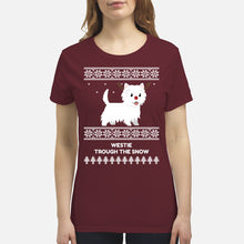 Westie Through The Snow  - Premium Women's T-shirt