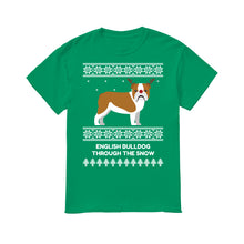 Bulldog Through The Snow - Men's T-Shirt