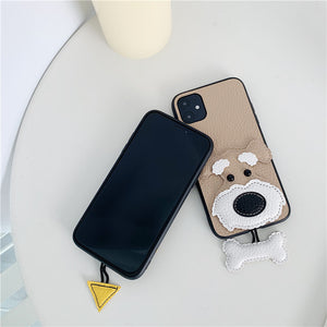 Schnauzer 3D Pendant iPhone Case