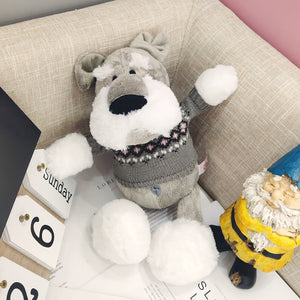 Schnauzer In Sweater Stuffed Toy