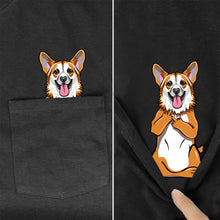 Dachshund Dog In Pocket T-Shirt