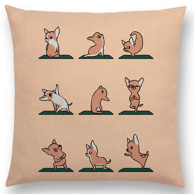 Chihuahua Yoga Pillow Case