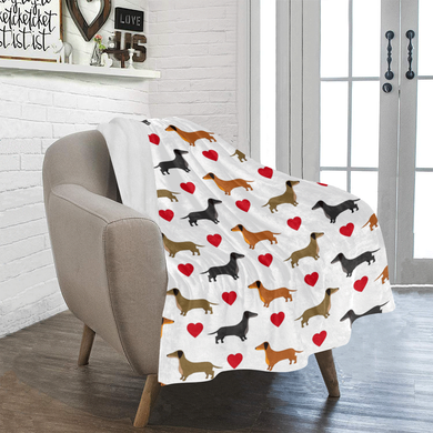 Dachshund Love Blanket