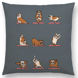 English Bulldog Yoga Pillow Case