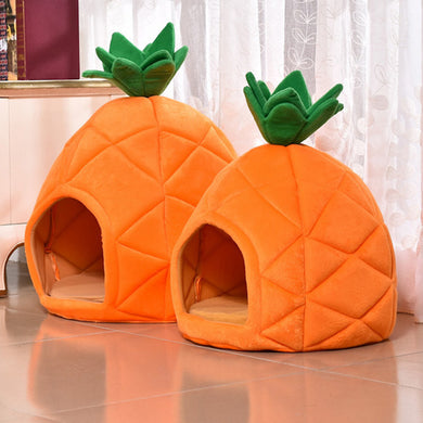 Pineapple Dog Bed House