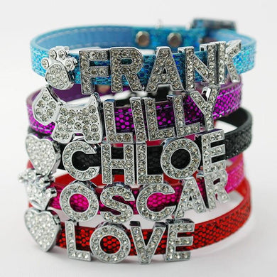 Designer Crystal Personalized Dog Collars