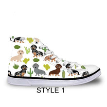 Dachshund Canvas Sneakers