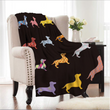 Dachshund Coral Fleece Blanket
