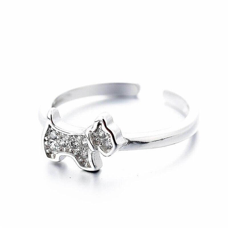 Abby Westie 925 Sterling Silver Ring 1