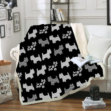 Lolly Dog Black Blanket