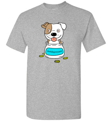 Antidepressant Staffy Classic Men/Unisex T-shirt