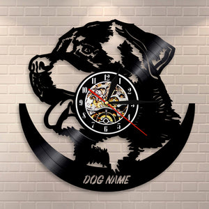 Personalized Vinyl Dog Wall Clock