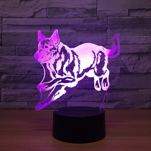 Color Changing German Shepherd Lamp