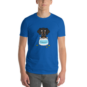Antidepressant Dachshund Premium Fitted Men/Unisex T-shirt