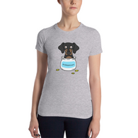 Antidepressant Dachshund Premium Fitted Lady T-shirt