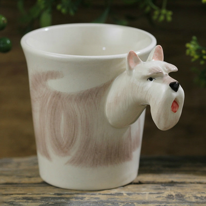 3D White Scottish Terrier Mug