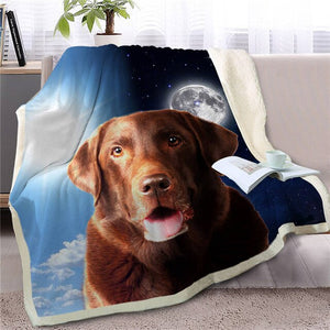 Day & Night German Shepherd Sherpa Blanket