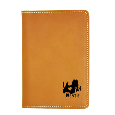 I love My Westie Leather Passport Cover