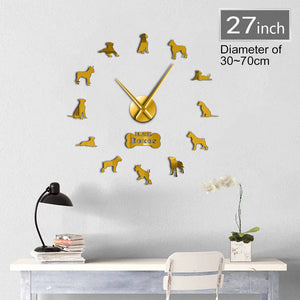 DIY Boxer Dog Wall Clock