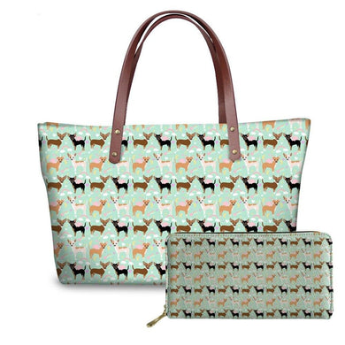 Chihuahua Shopper Bag And Wallet