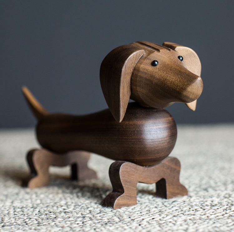 Dachshund Wooden Sculpture