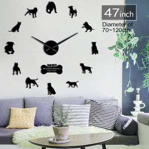 DIY Staffy Wall Clock