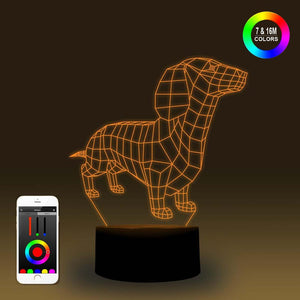 3D Dachshund LED Lamp