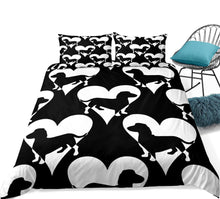 Dachshund Heart Bedding Set