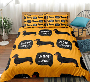 Woof Woof Dachshund Bedding Set