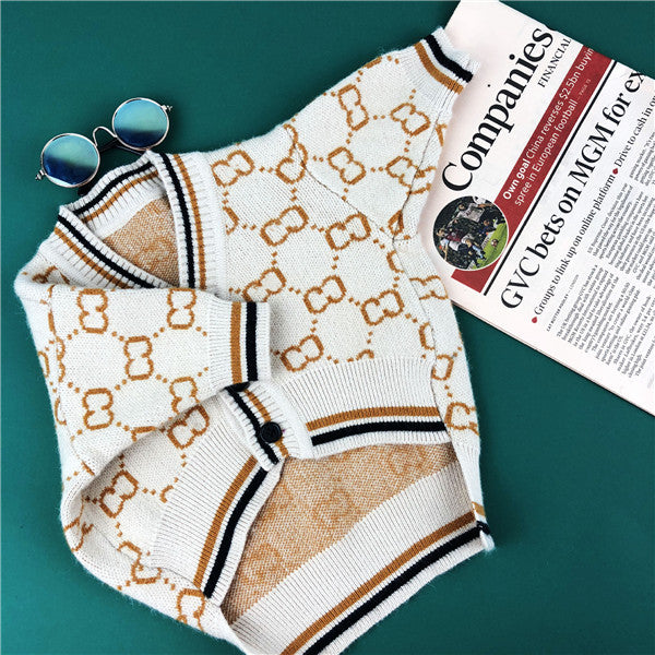 Pucci Monogram Schnauzer Dog Sweater