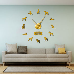 Boxer Dog DIY Wall Clock