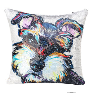 Copperfield Sequin Schnauzer Pillow Case
