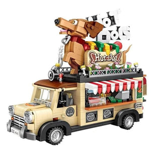 Dachshund Hot Dog Lego Truck Mini Blocks
