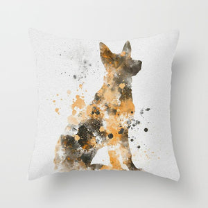 Watercolor German Shepherd Pillow Cases