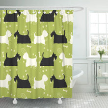 Scottie and Westie Shower Curtain