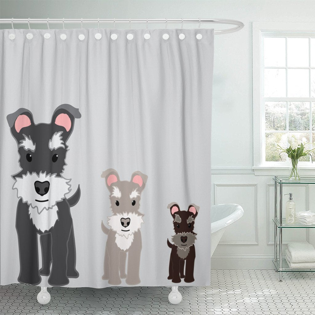 Ploocy Schnauzer Shower Curtain