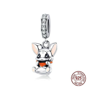 Coco Chihuahua 925 Sterling Silver Charm-charm-Ploocy-Ploocy