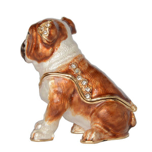 English Bulldog Trinket And Jewelry Box