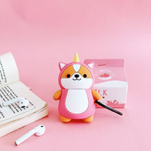 Unicorn And Bee Shiba AirPods Case