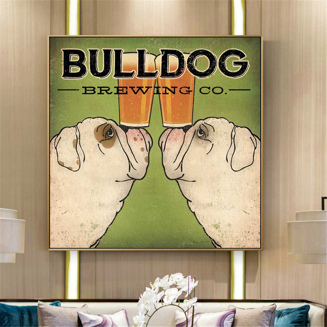 Bulldog Brewing Co. Canvas Poster