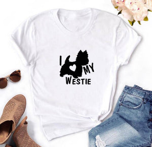 I Love My Westie Women's T-shirt