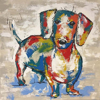 Dachshund Street Art Canvas