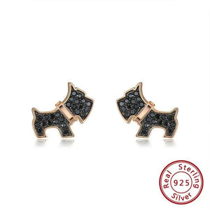 Bella 925 Sterling Silver Schnauzer Necklace