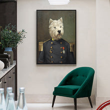 General Westie Canvas Poster