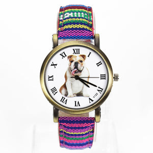 Colorful Bulldog Watch