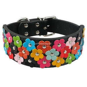 2 inch Wide Snuggles Floral Collar