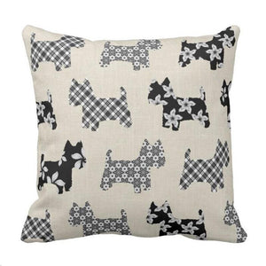 Westies Throw Pillow Case