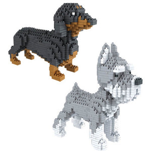 Small Dog Diamond Blocks