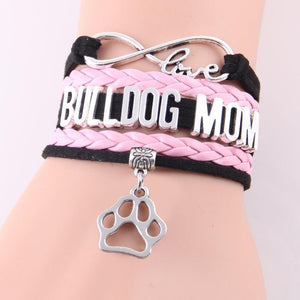 Bulldog Mom Infinity Love Bracelet