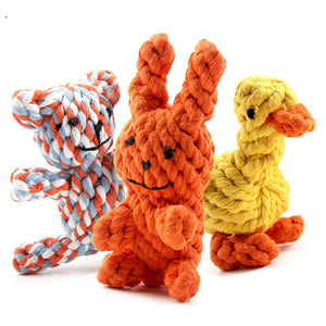 Cartoon Knot Rope Dog Toy